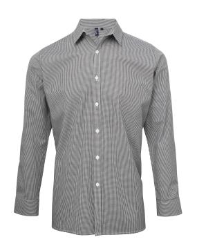 a69b32e597b52b Męska koszula w drobną kratkę długi rękaw Premier PR220